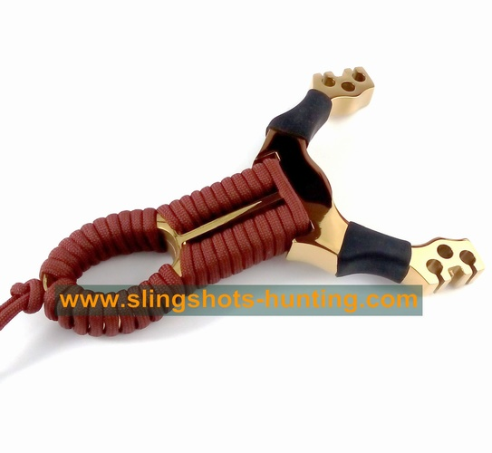 Hunting Slingshot Powerful & Accuracy 2/4/6 Bands Golden - Click Image to Close