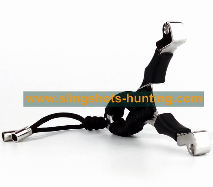 Classical Design Slingshot Outdoor Hunting For Sport 2 Bands - Click Image to Close