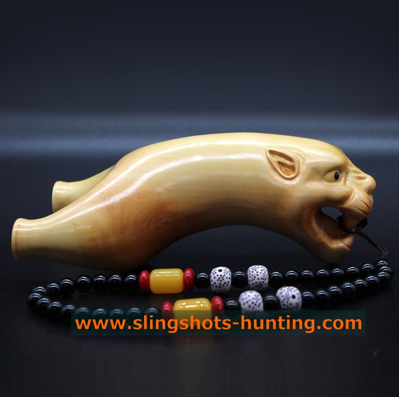 Handmade Wood Slingshot Hunter Gift Leopard - Click Image to Close