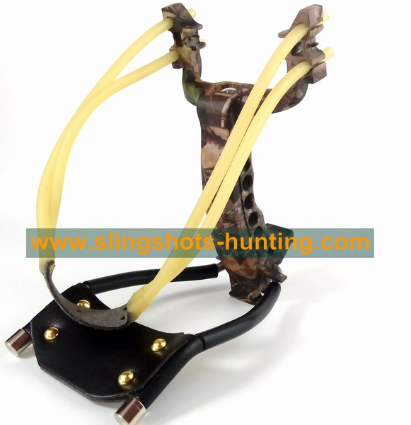 Camouflage Slingshot for Hunting 2/4 Bands accuracy Powerful - Click Image to Close