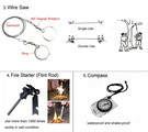 A Multi-function Tools Kit For Outdoor Survival