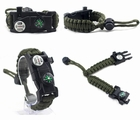 Survival Bracelet Multi-function Tools Kit On Wrist